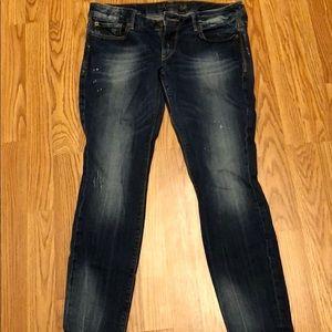 10 short express skinny jeans